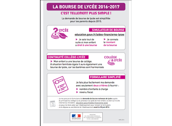 Bourses nationales 2016/2017